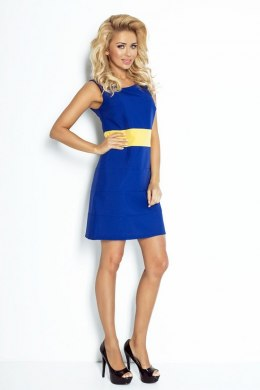 Bee - Blue dress with yellow stripe 102-2