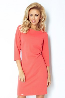 Tube dress with thick material - Salmon 107-1