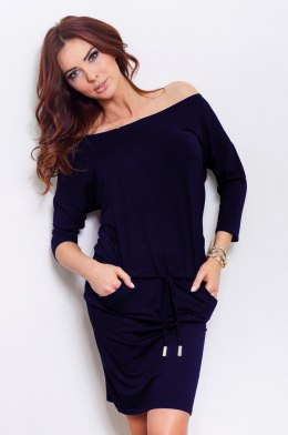13-15 Sporty dress - Navy Blue