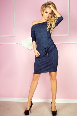 Sporty dress - viscose - navy blue jeans 13-19