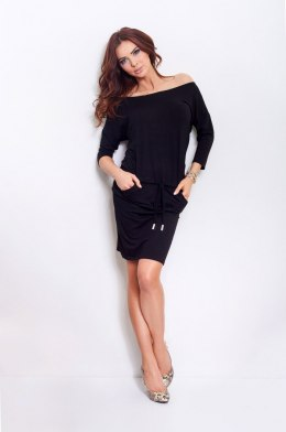 13-1A Sporty dress - Black