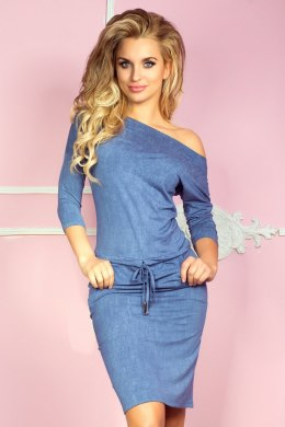 Sporty dress - viscose - Blue jeans 13-20
