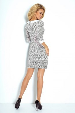 Dress with collar - black pattern 111-3