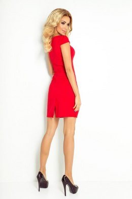 Dress with sleeves - Red 118-2