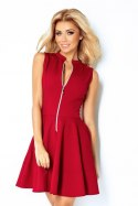 Dress with zipper - bordo 123-4