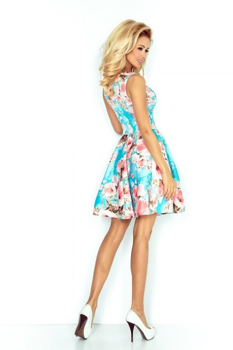 125-15 dress - Peach flowers