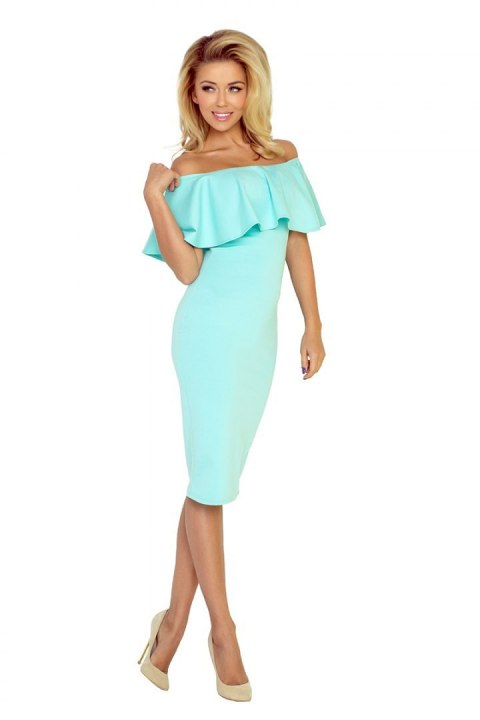 Dress with frill - MINT 138-1