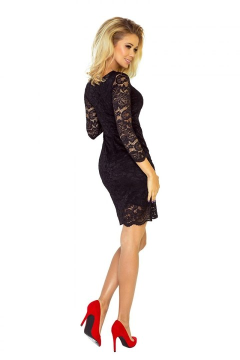 Dress with lace - black 145-1