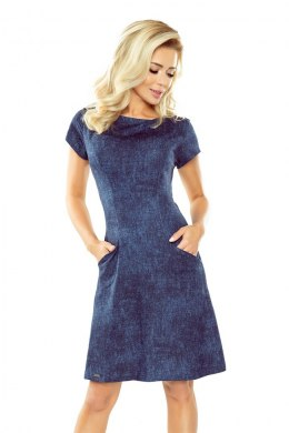 155-2 Dress in the shape of trapezium - dark jeans