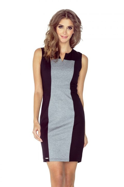 ad43266ce0a29d Two-color dress - black + gray MM 006-3
