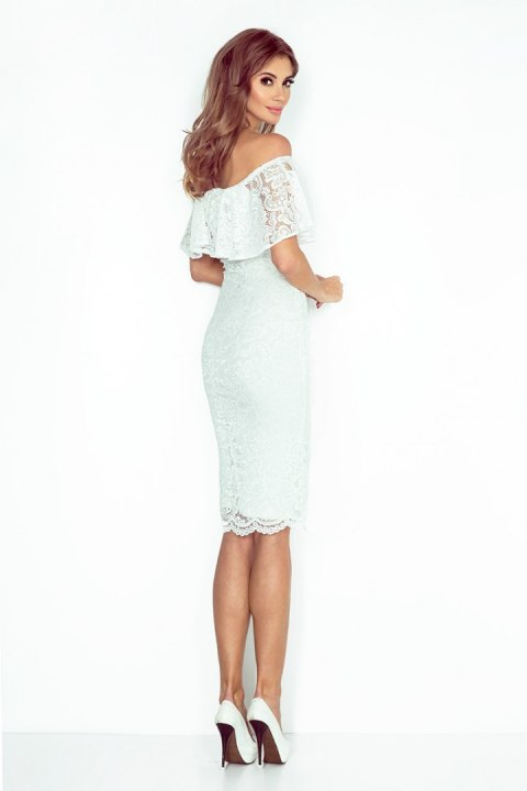 MM 013-1 Dress with frill - lace - ecru
