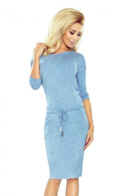 Sporty dress - viscose - Light blue jeans 13-80