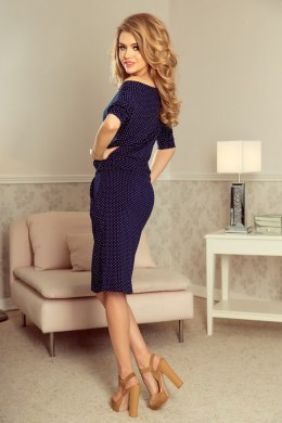13-89 Sporty dress - navy blue + dots