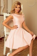 157-7 Dress MARTA with lace - peach