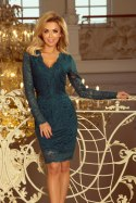 170-3 Lace dress with neckline - green