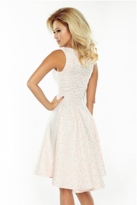 175-1 Exclusive dress with longer back - pastel Pink