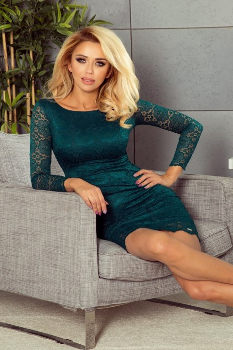180-2 Dress with lace - green