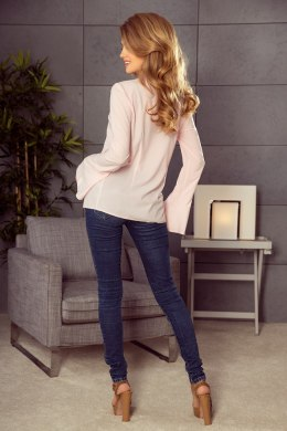 181-4 Blouse with flared sleeve - peach
