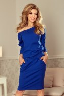 189-2 Sports dress with neckline at the back - royal blue