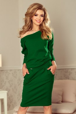189-3 Sports dress with neckline at the back - dark green