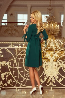 195-1 ALICE Dress with bows - green