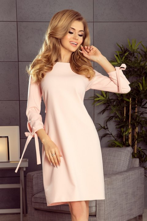 195-2 ALICE Dress with bows - pastel pink