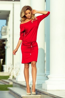 13-96 Sports dress with binding and pockets - red