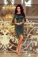 180-3 Dress with lace - bright green