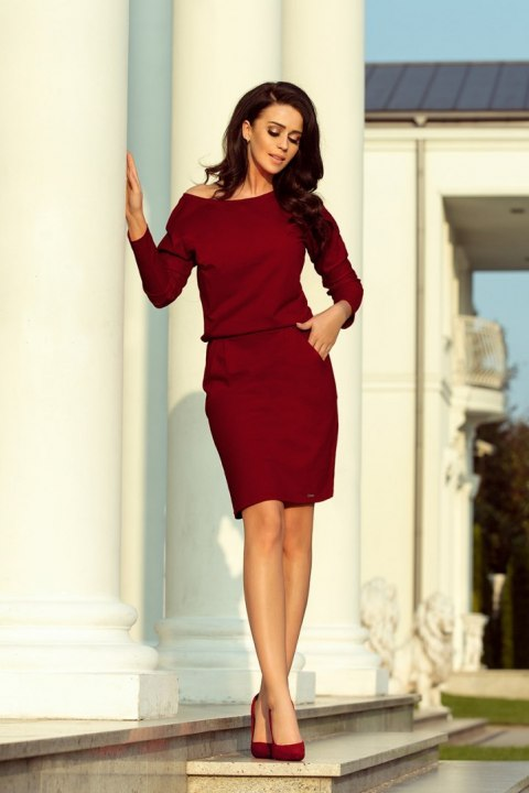 189-5 Sports dress with neckline at the back - Burgundy color