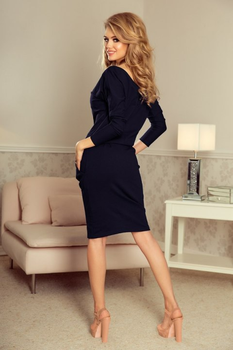 189-6 Sports dress with neckline at the back - Navy blue