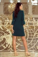 190-7 MARGARET dress with lace on the sleeves - dark green