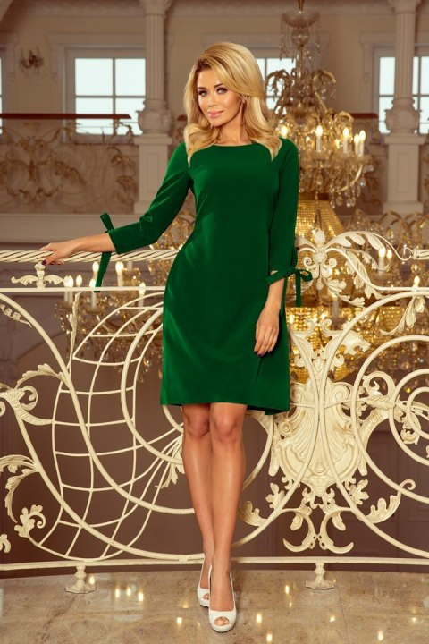 195-7 ALICE Dress with bows - bright green