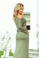 220-1 MAXI sporty dress - olive colour