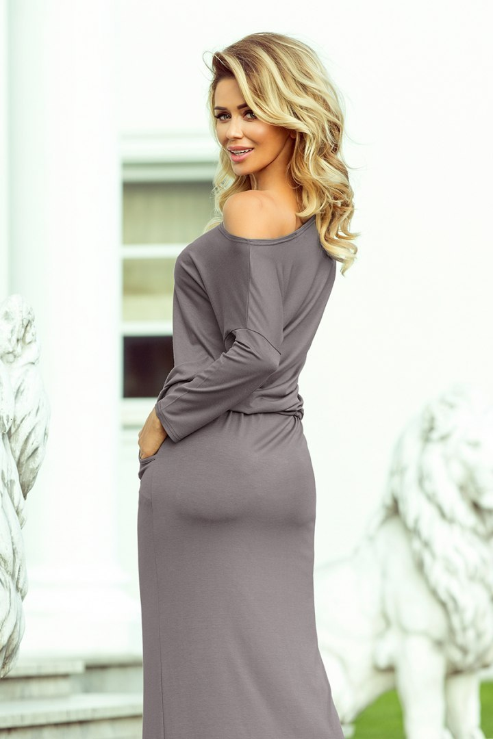 220-6 MAXI sporty dress - grey colour