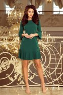 228-2 LUCY - pleated comfortable dress - green