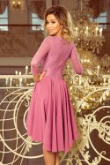 231-2 OLIVIA - asymmetrical dress with lace - light purple