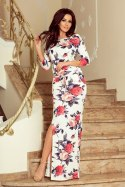 220-4 MAXI sporty dress - big red flowers